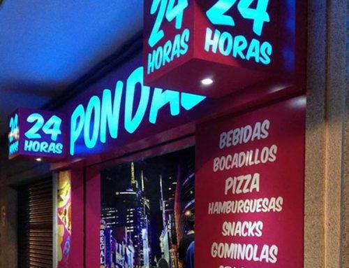 Rotulación local vending 24h