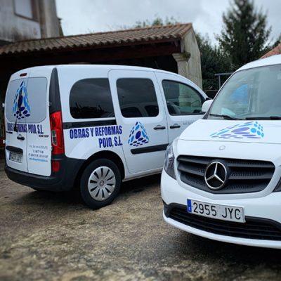 Rotulación de furgonetas en empresa de construccion - ESPACIO DIXITAL